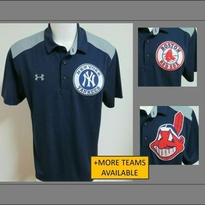 XL Navy Blue Under Armour Mens db Poly #41L Polo